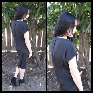 Beautifully simple vintage 80's black dress!
